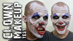 creepy clown makeup test