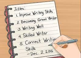 Writing Skills How To Improve Writing Skills Skillsandtech