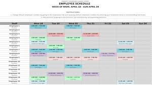 Free Schedule Weekly Schedule Template In Word And Excel Formats