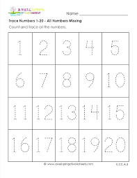 Tracing Numbers 1 5 Number Trace Worksheets 1 5 Tracing Numbers 1 5 ...