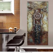 Harley Davidson Signs Decor HarleyDavidson Bike Repurposed Steel Wall Art Motorcycle Garage 92