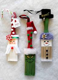 these fun paintbrush ornaments will delight both the young and the young at heart