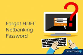 forget your hdfc net banking pword