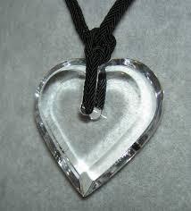 details about authentic baccarat clear a la folie crystal heart pendant necklace with pouch