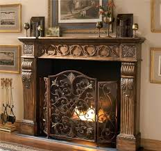 decorative fireplace screens spark guard curtains custom wrought iron arched doors inserts monogram screen modern fire scr
