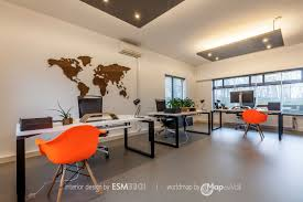 office world map. Wooden Magnetic World Map Walnut In Office - Overall View