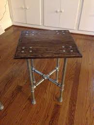 Hand Scraped Industrial Iron Pipe Table by IronCrafts on Etsy