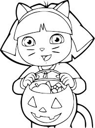 Coloriage Dora Halloween Imprimer Sur Coloriages Info