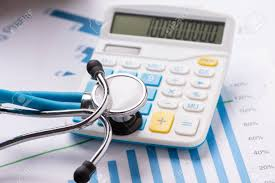 Practice Stock Charts Medical Practice Financial Analysis Charts With Stethoscope And