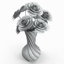 flower vase 3d model for free