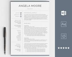 Etsy Resume Template Best Of Résumé Templates Etsy SE