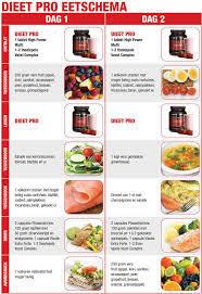 dieet pro eetschema