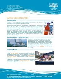 Newsletter Template H1 Eastcoast Sailing