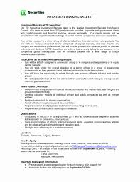 Business Analyst Investment Banking Resume Elegant Investment