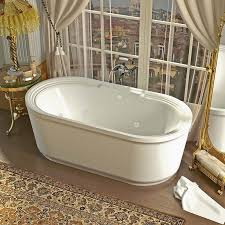 venzi padre 34 x 67 x 21 oval freestanding whirlpool jetted bathtub with center drain by