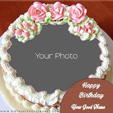 Birthday Cake With Name And Photo Editor Birthday Cake