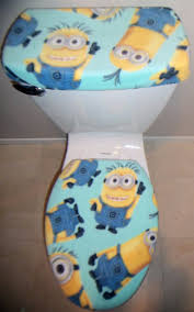 deable me minions fleece fabric toilet seat cover set bathroom accessories 1 of 2only 0 available see more