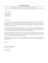 Popular Property Management Cover Letter Sample 36 On Sample Of