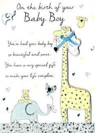 New Baby Boy Congratulations Greeting Card Second Nature