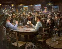play cards painting doc holiday plaingtexas holdem saloon card playing in the old west by