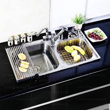best kitchen sinks nickel brushed stainless steel with pullout spray faucet