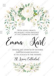 Wedding Invitation Modern Set White Rose Peony Herbal Greenery Pdf 5x7 In Create Online