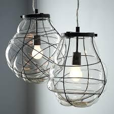 cer glass pendant light fixture outstanding organic blown glass pendant west elm regarding lights inspirations pertaining to blown glass pendant