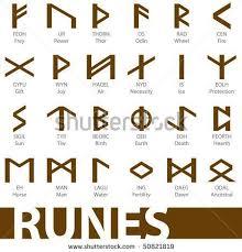 viking symbols. ancient celtic symbols | set runes vector illustration icons \u2013 stock viking
