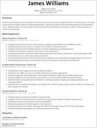 Resume Nurse Resume Format