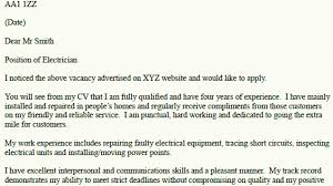 Electrical Engineeringover Letter No Experience Electrician