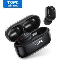 Tai nghe không dây TOPK T12 bluetooth 5.0 cho iPhone 12 Pro Max Samsung  Huawei OPPO Vivo - hàng chính hãng - Tai nghe Bluetooth nhét Tai
