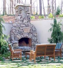 natural stone outdoor fireplace fireplace designs
