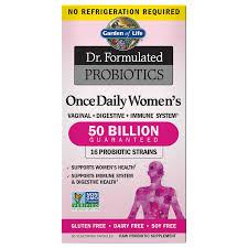 dr formulated probiotics once daily women s 50 billion cfu shelf stable 30 vegetarian capsules