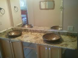 you can also put a vessel directly on the counter and not recess it at all when doing this you will need to a faucet that is specifically for vessel