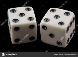 Image result for pair of dice .... five  up on each