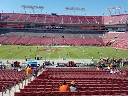 Bucs Seating Chart Raymond James Stadium Section 136 Tampa Bay Buccaneers
