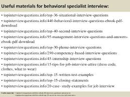 Behavior Based Interview Questions And Answers Top 10 Behavioral Specialist Interview Questions And Answers