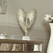 angel wings mirror antique mother of pearl sculpture silver angel wings