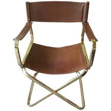 mid century italian designed leather folding director s chair by arrben for