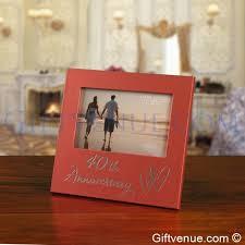matching 40th ruby wedding anniversary gift frame