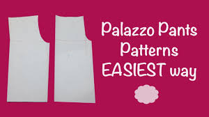 Pants Patterns Amazing Palazzo Pants PATTERNS SUPER EASY Tutorial Cloud Factory YouTube