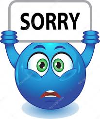 Blue smiley apologizes — Stock Vector © natalipopova