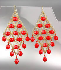 cgo1 cgo1 luxurious urban anthropologie c red crystals gold chandelier earrings