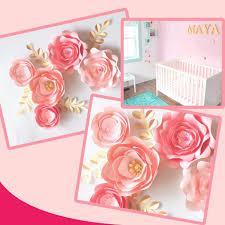 Homemade Paper Flower Decorations Handmade Cardstock Rose Diy Paper Flowers Leaves Set For Wedding