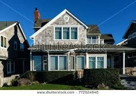 shingle siding house. Cedar Shingle Siding Home Depot Beach House Gray Weathered Stock Photo Royalty Two Story With