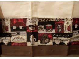 Cafe Latte Kitchen Decor Coffee Themed Kitchen Curtains Valance Window Topper 1495 Wake