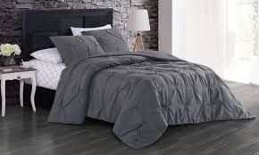 solid pintuck comforter sets with
