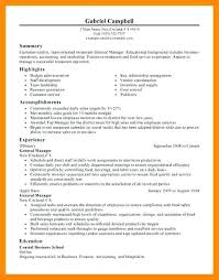 Restaurant General Manager Resume Compliant Visualize Tremendous 13 ...
