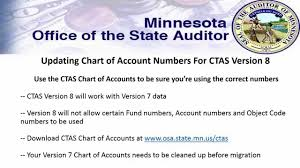 Ctas Chart Ctas Version 8 Changing Your Ctas Version 7 Chart Of Accounts To Prepare For Version 8