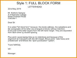Example Of Full Block Style Of Business Letter Filename Reinadela